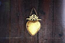 Gold Puffed Scared Heart Mirror Vintage Shabby Gypsy Pinup Punk Goth Tattoo Love