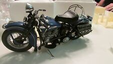 Franklin Mint  Harley Davidson 1948 BLUE PANHEAD MOTORCYCLE