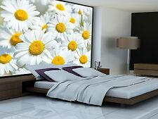 Daisies Flowers Meadow Wall paper Wall decoration by Great Art 82.7 Inch x 55 In