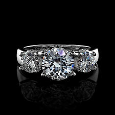 3.16Ct Round Cut Engagement Ring Available in 14K White Gold - NO RESERVE