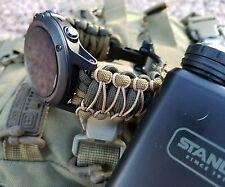 Garmin Fenix 1 2 3 Tactix Quatix 1 2 3 D2 Watch Band Strap Paracord GunnyHEX