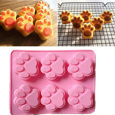 6 Cavity Mini Muffin Cup Silicone Soap Cookies Cupcake Bakeware Pan Tray Mould