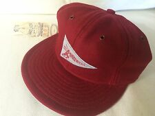 MILWAUKEE BREWERS Ebbets Field Flannels Red Ball Pennant Cap SMALL Flex Fit NEW!