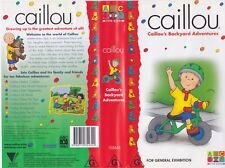ABC~ CAILLOU BACKYARDS ADVENTURES ~VIDEO VHS PAL~ A RARE FIND