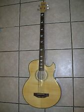 Bass guitar, 4 string, acoustic electric, flamed maple body