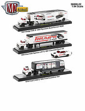 AUTO HAULERS RELEASE 22 3 TRUCKS SET 1/64 DIECAST MODELS BY M2 MACHINES 36000-22