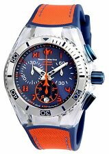 Technomarine Unisex TM-115020 Cruise California Quartz Blue, Orange Dial Watch