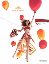 "2004 Hermes Lily Cole ""The magic box"" MAGAZINE AD balloons"