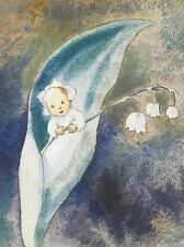 ART PRINT POSTER PAINTING SURREAL FANTASY BABY CHILD FLOWER CUTE NOFL0904