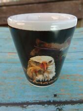 Liquor Shot Whiskey Glass    ALASKA Eagle    See STORE for 100s of Gift Ideas ++