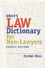 NEW - Law Dictionary for Nonlawyers (Paralegal Reference Materials)