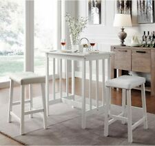 Dinette Sets For Small Spaces 3 Piece Kitchen Counter Stools Table Home Dining