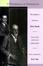 A Psychology of Difference : The American Lectures by Otto Rank (1996,...