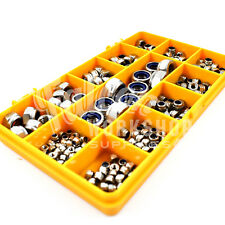 200 PIECE A2 STAINLESS NYLOC INSERT NUT KIT, M2.5 M3 M4 M5 M6 M8 DIN985 NUTS