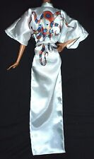* LINGERIE ~ OCTOPUSSY 007 MODEL MUSE WHITE SATIN ROBE BARBIE DOLL CLOTHING ITEM