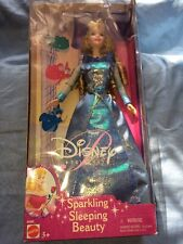 Disney Princess Sparkling Sleeping Beauty doll 2001 Aurora NIB Blue Dress