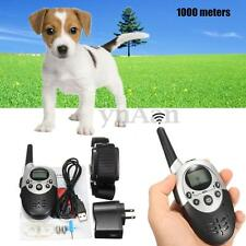Rechargeable E-Collar Electric Shock 1000M Remote Control Dog Training Anti-Bark