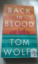 BACK TO BLOOD SEMI-HARDCOVER BOOK BY TOM WOLFE THICK 720 PAGES NEW