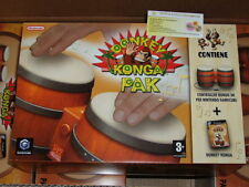 DONKEY KONGA PAK x Nintendo Game Cube Vers. PAL ITA NUOVO NEW comp. Wii no mini