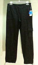 NWT $44 Style&co Sport Black Elastic Waist Pull On Casual Pants Size: PL