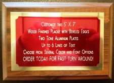 "5""x7"" Recognition Award Plaque Trophy with 2 Tone Aluminum Engraved Plates"
