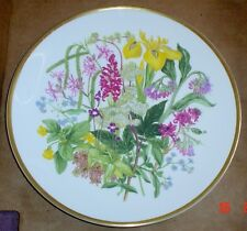 Caverswall Spink Limited Edition Collector Plate WILDFLOWERS - MARSHLAND AND FEN