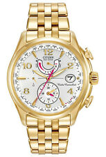 New Citizen FC0002-53A Eco-Drive Perpetual Calendar A-T Gold Tone Women's Watch