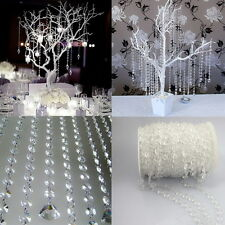 33FT Garland Diamond Strand Acrylic Crystal Bead Curtain Wedding DIY Party Decor