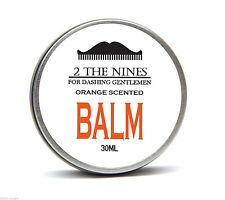 2 The Nines™ Premium Tangy Orange Beard Balm Growth Conditioning 30ml Tin
