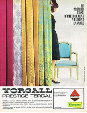 PUBLICITE ADVERTISING   1962   YORGALL   voilages tissus TERGAL