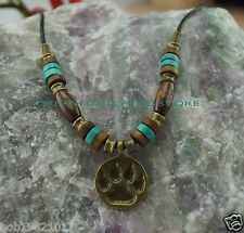 2013 new arrival dream catcher necklace alloy brass wolf paw pendant
