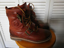 MENS Casual POLO RALPH LAUREN Maurice Buckle BOOTS Size 8 D Brown Oiled Leather