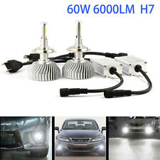 2X H7 CREE 60W High Power LED Headlight Conversion Kit Bulbs lamp 6000K White