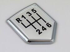 SHIFT Decal 6 speed Car Chrome Emblem Sticker badge mechanical transmition