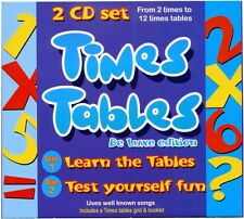 Times Tables Songs Learning CD  + Times Tables booklet. 2 CD SET - NEW & WRAPPED