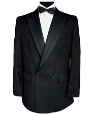 "Finest Barathea Wool Double Breasted Dinner Jacket 44"" Long"