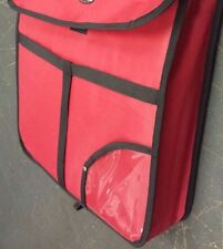 "18""x18""x5"" INSULATED PIZZA DELIVERY BAG 2 HRS@167 DEGREE CATERING RED PIE FOOD"