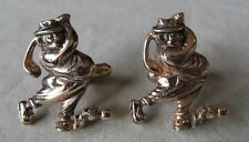 Men Vintage Lg HOBO GOLFER CUFFLINK Costume Jewelry Accessory I34