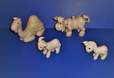 Precious Moments 4 Nativity Additions Goat Camel Donkey Cow for 104000 and E2800