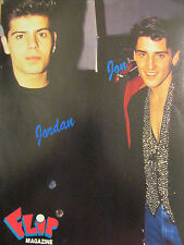 Jordan and Jonathan Knight, New Kids on the Block, Full Page Pinup, NKOTB