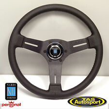 Nardi Competition 330mm Steering Wheel, Blk Perf Leather, Blk Spoke 6070.33.2091