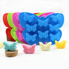 8 Cavity Butterfly Decorating Cake Mold Silicone Soap Mold Chocolate Baking Mold