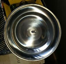 STAINLESS STEEL PLATE 24cm -  SUIT CAMPING OR REENACTMENT ACW COLONIAL ERA