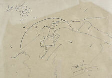 Peter Max (American, 1937-) Marker on Paper  Titled Mountain Sail , Signed