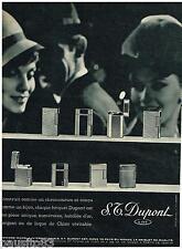 PUBLICITE ADVERTISING 095  1962  DUPONT  briquets