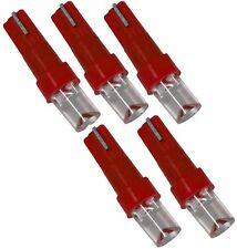 Lot de 5 ampoules T5 12V à LED rouges pour tableau de bord auto voiture