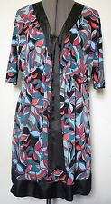 Ladies Dress Bisou Bisou Size 14 Black Blue Red Purple Colourful Stretch Fabric