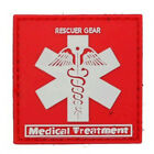 RED USA RESCUER GEAR MEDICAL TREATMENT TACTICAL ARMY 3D PVC VELCRO PATCH PATCHES