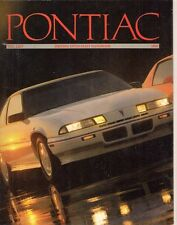 Pontiac 6000 Firebird Grand Am Bonneville Grand Prix 1989 All Model USA Brochure