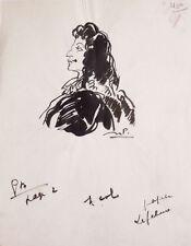 Comédien LEFEBURE Dessin original de julien PAVIL (1897-1952)